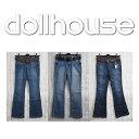 dollhouse ドールハウス レディース ブーツカットデニム バギー デニムパンツ ジーンズ BOOTCUT 全3デザイン