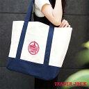 【メール便可】 TRADER JOE'S トレーダージョーズ エコトートバッグ ショッピングバッグ ホワイト×ネイビー