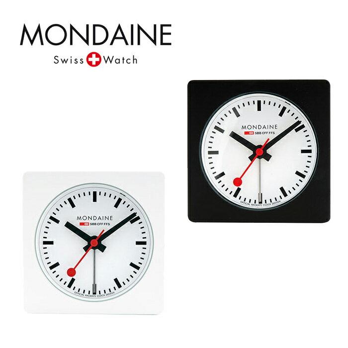 MONDAINE モンディーン Alarm Cube アラームクロックキューブ 置時計 ホワイトダイアル 全2色 モンディーン 時計