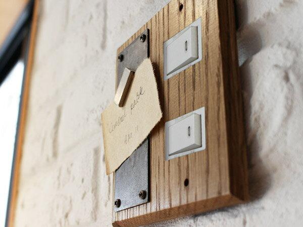 ウッドペーストマグネットスイッチプレート 2口 wood paste magnet switch plate 2口 小さなわがままをかなえる木製スイッチプレート