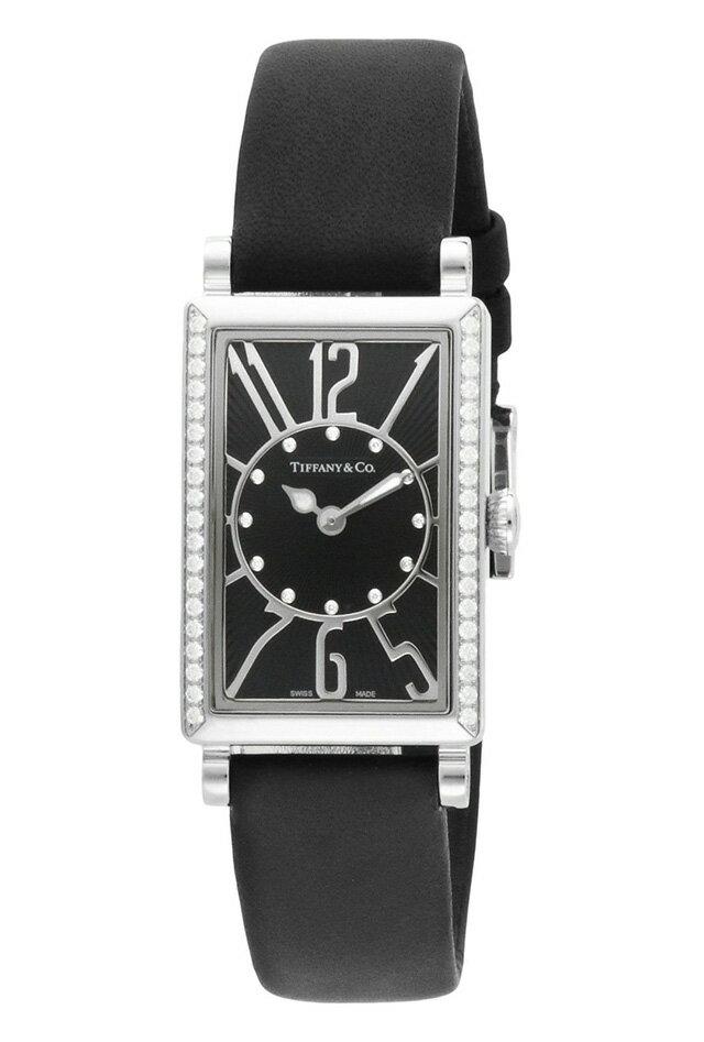 Tiffany Z3000.10.10E10C68AティファニーGalleryレディース腕時計ブラック×シルバー ★☆正規品・新品・未使用品