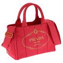 PRADA 1BG439-CANAPA-PEONIAプラダ 2WAYバッグコットンキャンバスペオニア×ゴールド