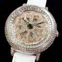 Anne Coquine 1206-0101MINI CROSS GOLD SWAROVSKI WATCHWHITE×WHITEぐるぐる時計 アン コキーヌ ミ...