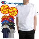 ★2枚/200円OFF、4枚/400円OFFクーポン★ CHAMPION チャンピオン メンズ 無地 半袖 tシャツ 大きいサイズ T-SHIRT Tシャツ ロゴ付き ワンポイントロゴ レディース ユニセックス
