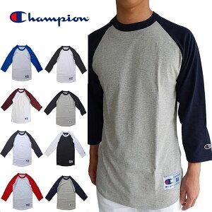 レビュー クーポン プレゼント チャンピオン ラグラン ベースボール Tシャツ