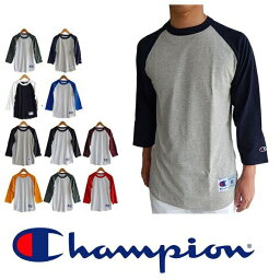 Champion <strong>チャンピオン</strong>ラグラン袖 七分袖 ベースボールTシャツ <strong>ロンt</strong> 長袖 ロングスリーブ tシャツ