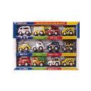 【IKEDA/イケダ】わくわくタウンプレイセット2 483023 406805 作業車 バス トラック パトカー 救急車 ミニカー セット 子供 室内遊び おもちゃ