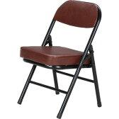 折りたたみ椅子 フォールディング チェア パイプ ミニ ブラック 黒 ブラウン 茶色 【椅子 チェア イス いす 座椅子 フロアチェア パソコンチェア オフィスチェア ハイバック ダイニングチェア デザイナーズチェア リクライニングチェア 送料無料 ポイント】