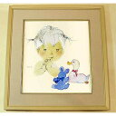 Picture Chihiro Iwasaki duck and a bear and amount of baby picture painted by a child colored paper hanging scroll hanging scroll