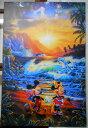 クリスチャン・リース・ラッセン シーサイドロマンス キャンバスに油彩系の複製 全国送料無料 【smtb-k】【ky】