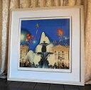 絵画 ヒロ、ヤマガタ コンコルド広場の噴水 版画 シルクスクリーン 全国送料無料 【smtb-k】【ky】