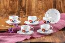 結婚祝い 九谷焼コーヒーセット魯山人椿写し カップ&ソーサー5客ギフトセット 結婚式の引出物新築祝い