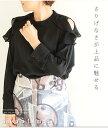 さりげなさが上品に魅せる。レディース ファッション トップス シャツ 長袖 ミディアム丈 ブラック フリーサイズ M L LL Mサイズ Lサイ..