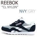 【送料無料】Reebok CL NYLON / ネイビー【リーボック】【日本未発売】【V67356】 シューズ