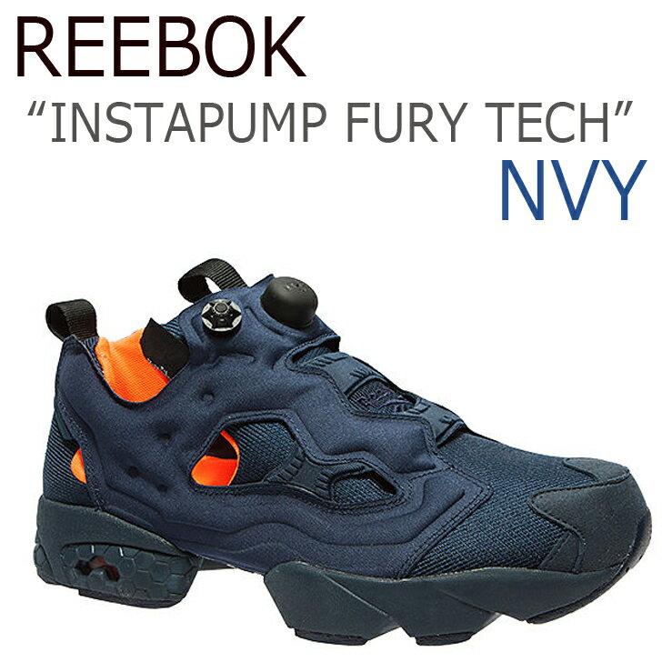【送料無料】Reebok INSTAPUMP FURY TECH ポンプフューリー / ネイビー【リーボック】【ポンプフューリー】【V63499】 シューズ