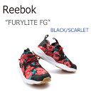 Reebok FURYLITE FG/Black/Scarlet/White【リーボック】【フューリーライト】【BD1099】 シューズ