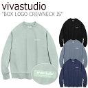 ビバスタジオ トレーナー vivastudio メンズ レディース BOX LOGO CREWNECK JS ボックス ロゴ クルーネック 全4色 JSVT20 ウェア