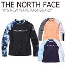 ノースフェイス 水着 THE NORTH FACE レディース W'S NEW WAVE RASHGUARD ニューウェーブ ラッシュガード BLACK ブラック ORANGE オレ..