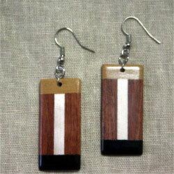 寄木細工ピアス木製アジアン雑貨販売 BCD SHOPの紹介画像2