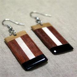 寄木細工ピアス木製アジアン雑貨販売 BCD SHOP