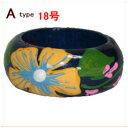 木製リング・紺系4種類アジアン雑貨BCDSHOP