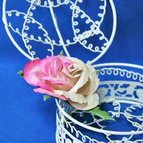 装飾造花・バラ造花(1本)Mサイズ・ピンクのバラアジアン雑貨販売