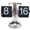 パタパタと時間が変わります機械式紙芝居時計スケルトンパタパタクロック