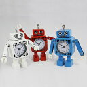 置き時計 置時計 ミニチュア ロボット レトロ メタル 銀 プレゼント ギフト 子供 男性 特価 お買得 ミニチュアクロック「ロボット」 (KY-ROCL2G)...