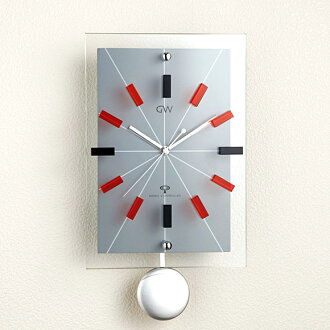 Glass pendulum watch ARIA (red) (logging) | Watch | pendulum clock | clock | pendulum clock