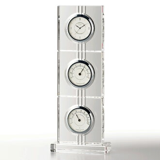 "Glass temperature-humidity clock ""アエリア"" (NSGW1000-11019) (検 )