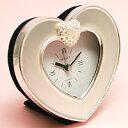小粋なハート型ミニクロックハート置時計