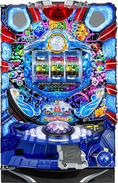 【今だけシンプルスタンドプレゼント!】SanThree CRAドラム海物語99バージョン 『バリューセット3』[パチンコ 実機][A-コントローラー+循環加工/家庭用電源/音量調整/ドアキー/取扱い説明書付き〕[中古]