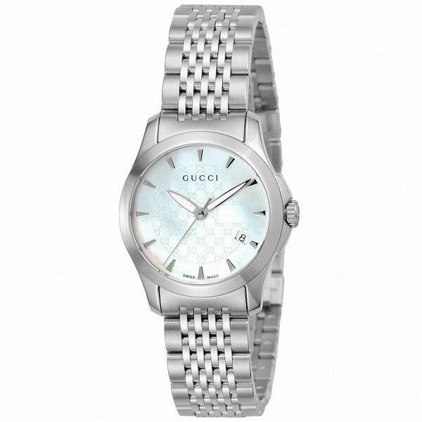【送料無料】GUCCI(グッチ) YA126533 シルバー/ホワイト [クォーツ腕時計 (レディースウオッチ)] 【並行輸入品】