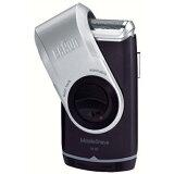 BRAUN ブラウン M-90 モバイルシェイブ [携帯用電気シェーバー 往復式 1枚刃] 水洗い 防水 お風呂剃り 往復式 キワゾリ刃 髭剃り 乾電池式
