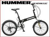 【送料無料】折りたたみ自転車 HUMMER FDB206 Wsus マッドブラック【同梱配送不可】【代引き不可】【沖縄・離島配送不可】