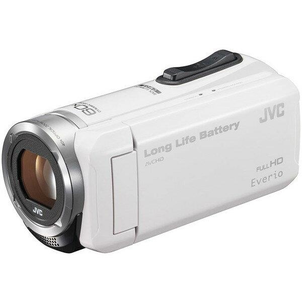 【送料無料】約5時間連続使用のロングバッテリー JVC (ビクター/VICTOR) ビデオカメラ 小型 ハイビジョンメモリームービー Everio(エブリオ) フルハイビジョン (フルHD) 内蔵メモリー 32GB ホワイト GZ-F100-W