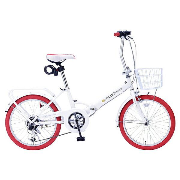 マイパラス SC-09-W/RD ホワイト/レッド [折りたたみ自転車(20インチ・6段変速)]【同梱配送不可】【代引き不可】【本州以外の配送不可】