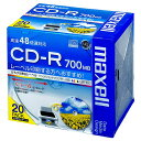 maxell CDR700S.WP.S1P20S ひろびろ美白レーベル [データ用CD-R(700MB・48倍速・20枚入)]【同梱配送不可】【代引き不可】【沖...