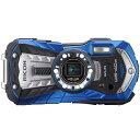 【送料無料】RICOH WG-40W-BL ブルー [コンパクトデジタルカメラ(1600万画素)]