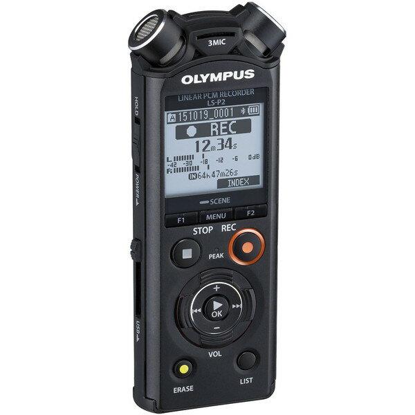 【送料無料】OLYMPUS(オリンパス) LS-P2 BLK ブラック [リニアPCMレコーダー 8GB(ハイレゾ対応)]