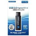 SUPER TALENT ST3U28ES12 ブラック Express ST1-2シリーズ [USBフラッシュメモリー 128GB(USB3.0対応)]