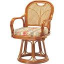 【送料無料】弘益 R-440S ラタン回転椅子 ハイタイプ (SH440)【同梱配送不可】【代引き不可】【沖縄・北海道・離島配送不可】
