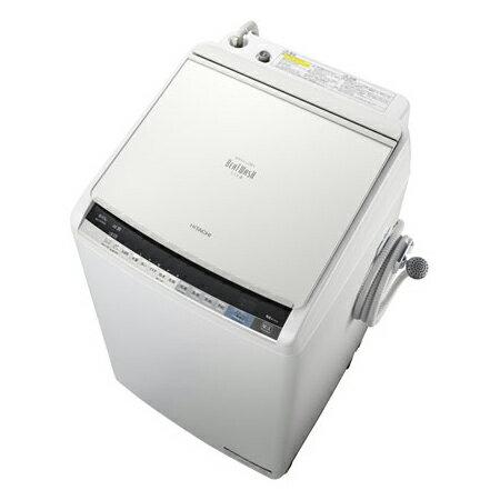 【送料無料】日立 BW-DV80A(W) ホワイト ビートウォッシュ [洗濯乾燥機 (8kg)]【代引き不可】