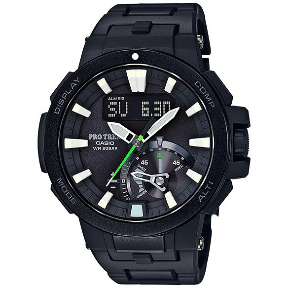 【送料無料】CASIO PRW-7000FC-1JF ブラック PROTREK(プロトレック) [ソーラー電波腕時計(メンズウオッチ)] トリプルセンサーVer.3を搭載し、Newデジタル/アナログコンビネーションモデルが登場