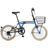 【送料無料】DOPPELGANGER M6 BLUE [折りたたみ自転車 (20インチ・7段変速)]【同梱配送不可】【代引き不可】【沖縄・離島配送不可】