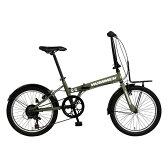 【送料無料】GIC FDB207 TANK グリーン(33849) [折りたたみ自転車(20インチ・7段変速)]【同梱配送不可】【代引き不可】【沖縄・離島配送不可】