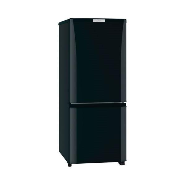 【送料無料】MITSUBISHI MR-P15A-B サファイアブラック [冷蔵庫 (146L・右開き)] 三菱 小型 自動霜取り 2ドア