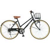 【送料無料】 自転車 26インチ 軽量 7色 黒 ブラック シンプル シティサイクル マイパラス M-501-BK 【同梱配送不可】【代引き不可】【沖縄・離島配送不可】