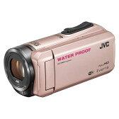 【送料無料】JVC (ビクター/VICTOR) ビデオカメラ 小型 防水対応 ハイビジョンメモリームービー Everio(エブリオ) フルハイビジョン (フルHD) 内蔵メモリー 64GB ピンクゴールド GZ-RX500-N 夏の行楽、スポーツ撮影、水辺の撮影