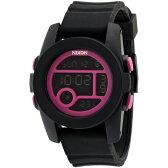 【送料無料】NIXON A4901614 THE UNIT 40 ブラック/マゼンタ [腕時計]